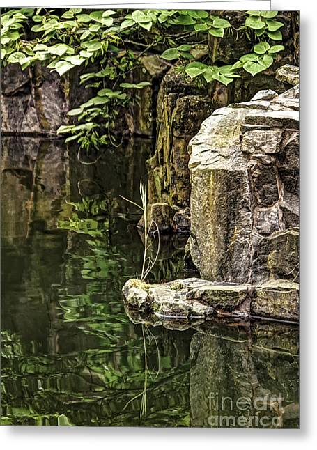 Scholar Garden Reflections Greeting Card