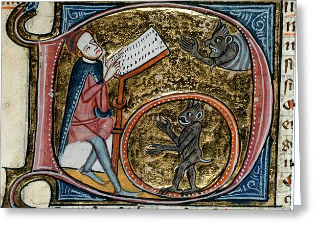 Scholar With Devils Greeting Card by British Library