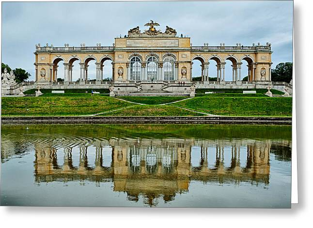 Schonbrunn Glorietta Greeting Card by Viacheslav Savitskiy