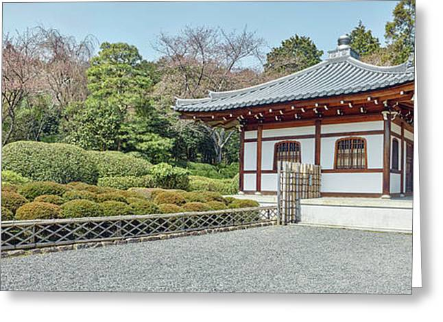 School Building In Ryoan-ji Temple Greeting Card by Panoramic Images