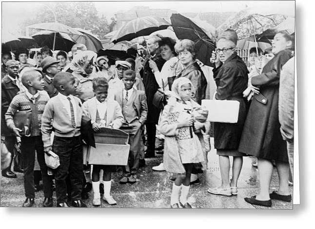 School Desegregation, 1965 Greeting Card