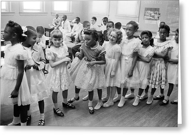School Integration In 1955 Greeting Card