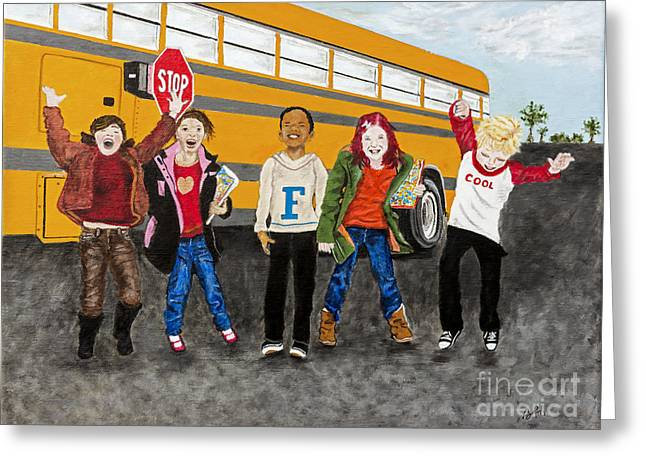 School Is Out By Barbara Heinrichs Greeting Card by Sheldon Kralstein