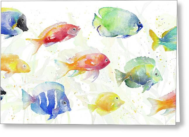 School Of Tropical Fish Greeting Card