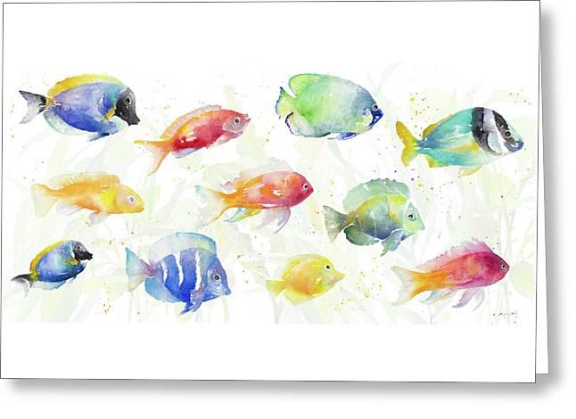 School Of Tropical Fish Greeting Card