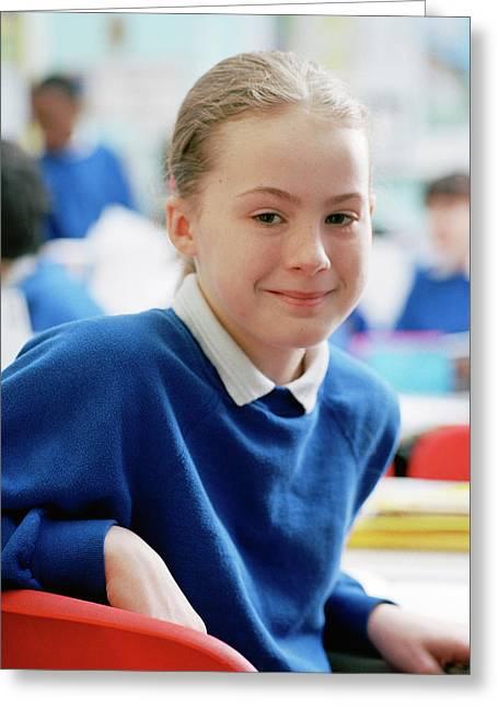 Schoolgirl Greeting Card