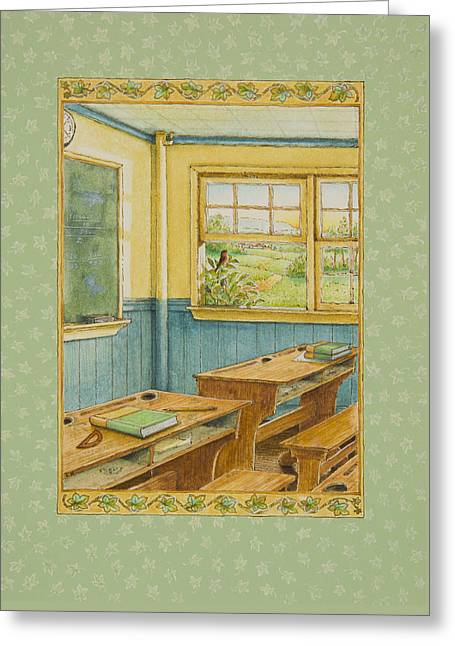School's Out Greeting Card by Lynn Bywaters