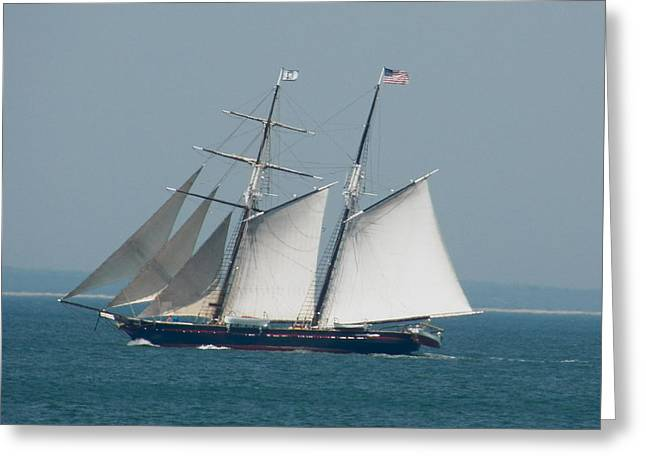 Schooner At Sail Greeting Card