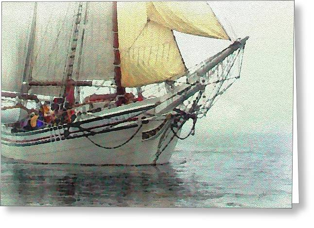 Schooner Excursion Greeting Card by Philip White