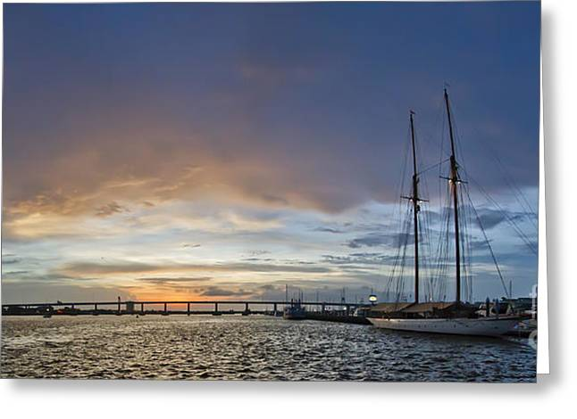 Schooner Germania Nova Sunset Greeting Card by Dustin K Ryan