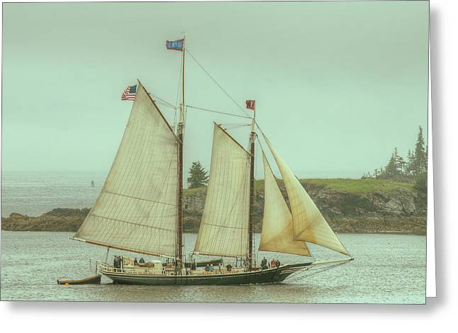 Schooner Stephen Taber Greeting Card