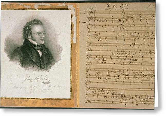 Schubert Song And Portrait Greeting Card
