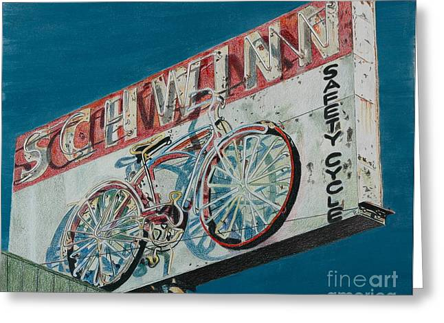 Schwinn Safety Cycle Greeting Card