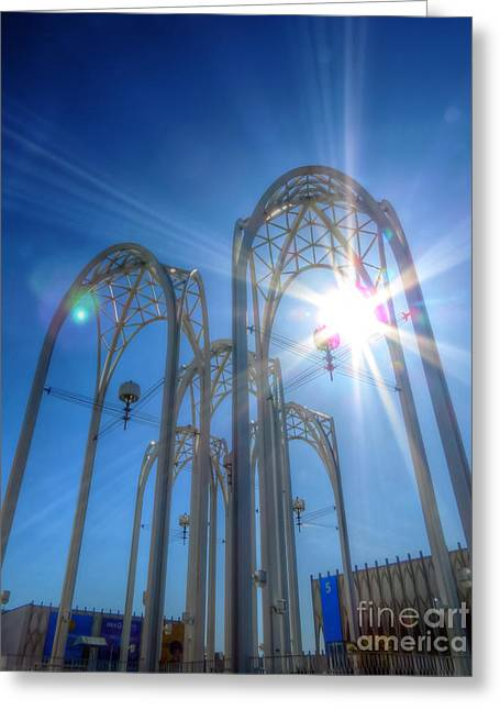 Science Center Sun Flare Greeting Card by Chris Anderson