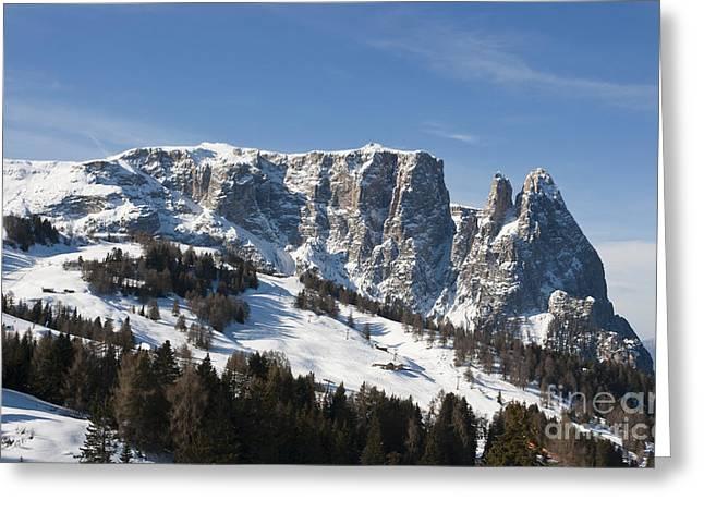 Sciliar's Mountains Greeting Card by Pier Giorgio Mariani