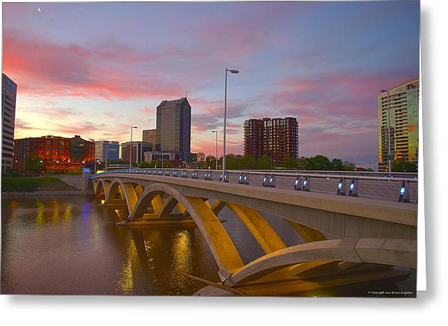 Greeting Card featuring the photograph Scioto Morning 50526 by Brian Gryphon