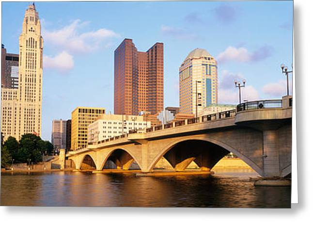 Scioto River, Columbus, Ohio, Usa Greeting Card by Panoramic Images