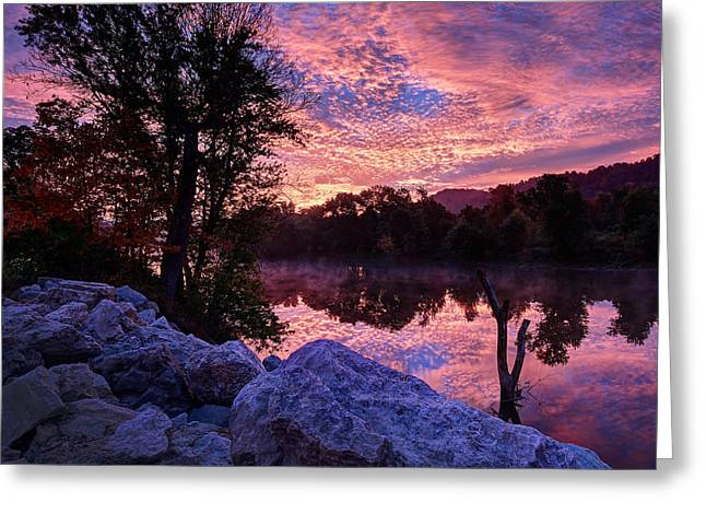 Scioto Sunrise Greeting Card by Jaki Miller