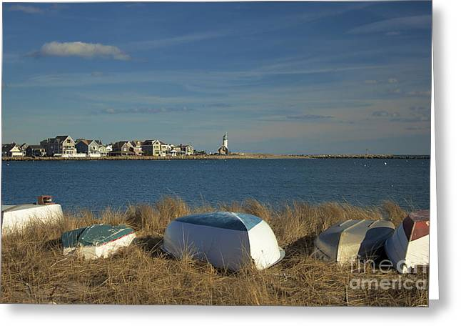 Scituate Harbor Boats Greeting Card by Amazing Jules