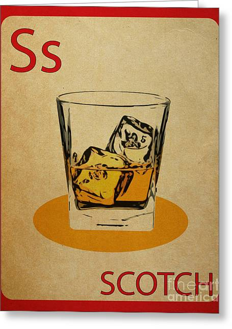 Scotch Vintage Flashcard Greeting Card
