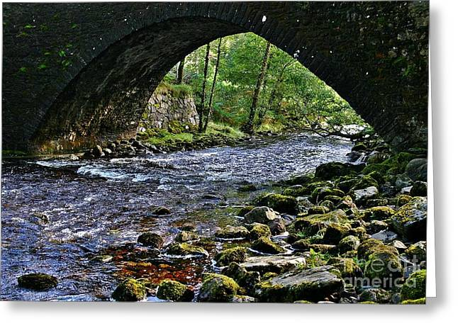 Scotland Bridge Greeting Card by Henry Kowalski