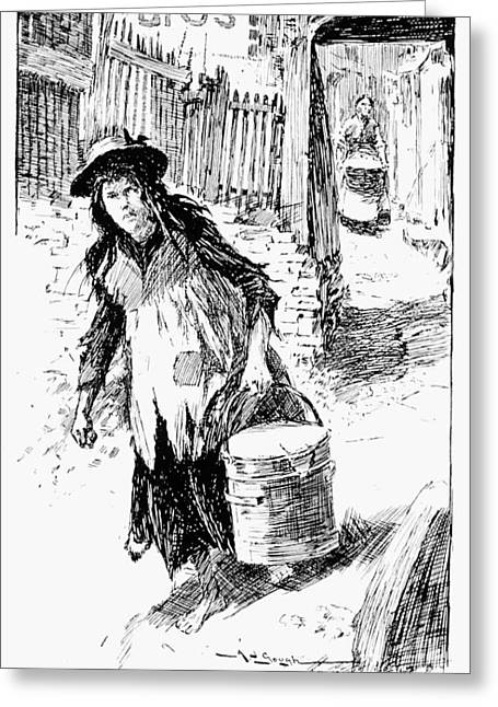 Scotland Child Labor, 1905 Greeting Card by Granger