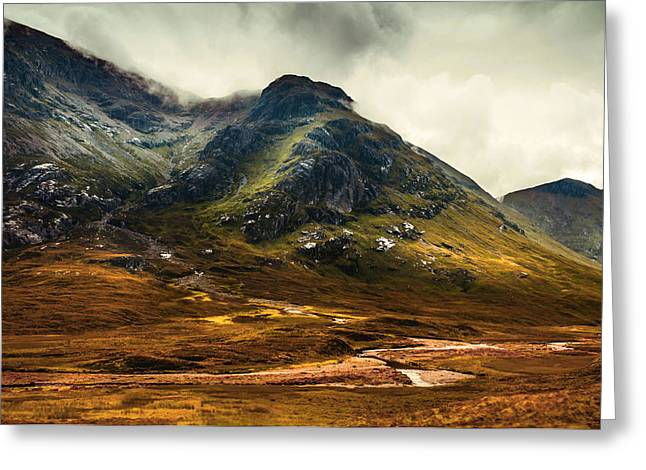 Scotland The Brave. Glencoe Greeting Card by Jenny Rainbow