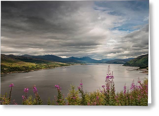 Scotland's Landscape Greeting Card by Sergey Simanovsky