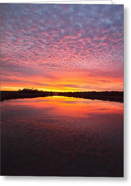 Scott Creek Sunset Panorama 03 Greeting Card