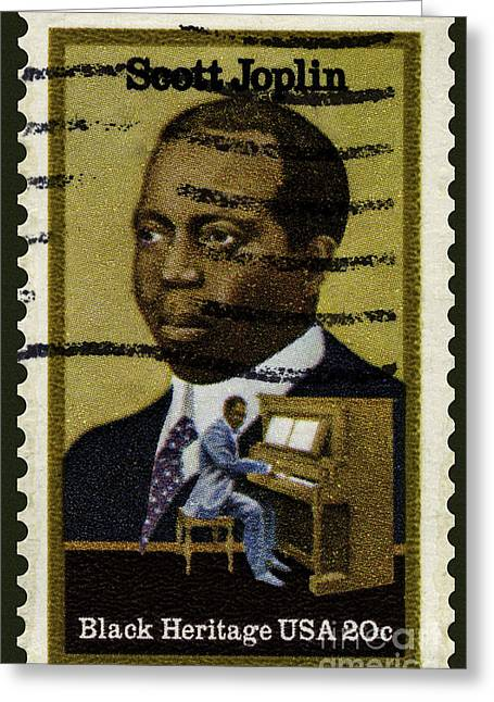 Scott Joplin Stamp Greeting Card