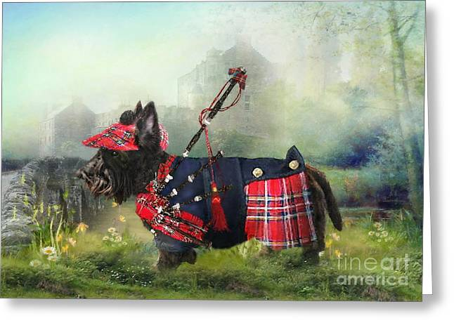 Scottie Of The Glen Greeting Card