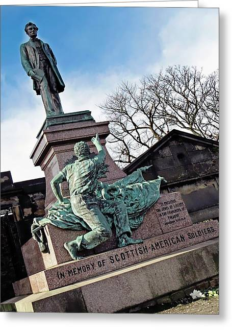 Scottish American Soldiers Monument Greeting Card by Victor Habbick Visions