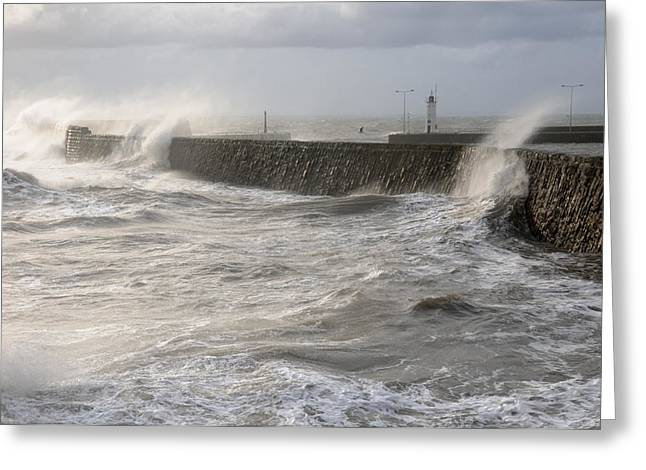 Scottish Sea Storm Greeting Card by Jeremy Voisey