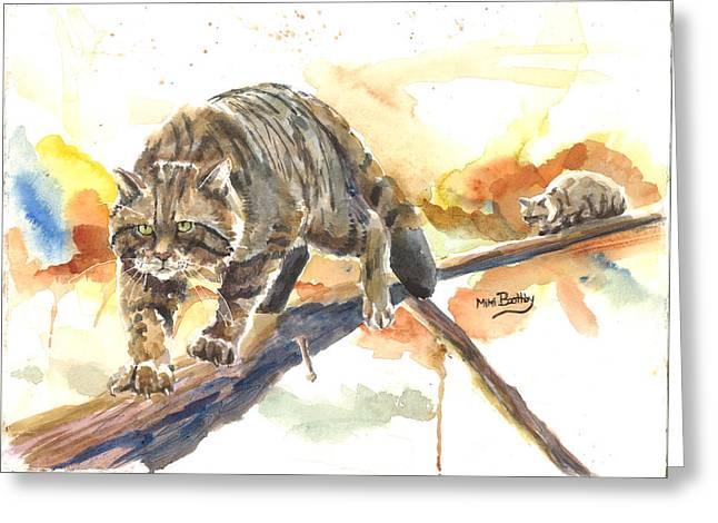 Scottish Wildcat Tom Greeting Card
