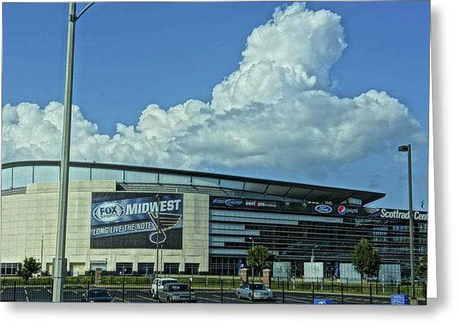 Scottrade Center Home Of The St Louis Blues Greeting Card