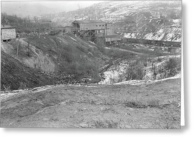 Scotts Run, West Virginia. Chaplin Hill Mine Tipple - This Greeting Card