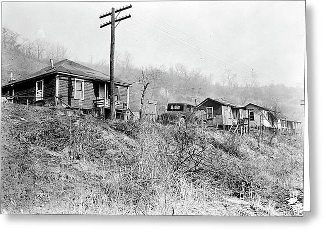Scotts Run, West Virginia. Sessa Hill - The Mine Is A Small Greeting Card