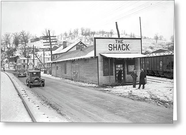 Scotts Run, West Virginia. The Shack Community Center - Greeting Card by Litz Collection