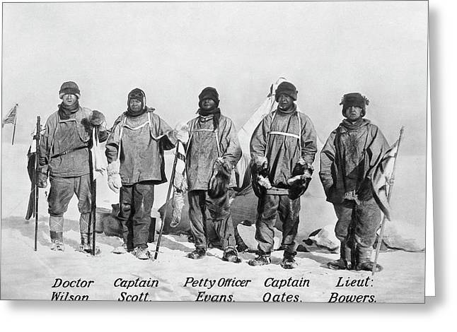 Scott's South Pole Party Greeting Card by Scott Polar Research Institute