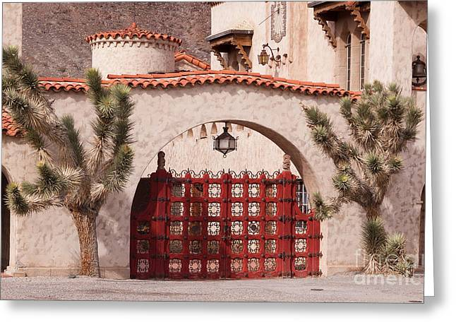 Scotty's Castle Gate Greeting Card by Kevin Grant