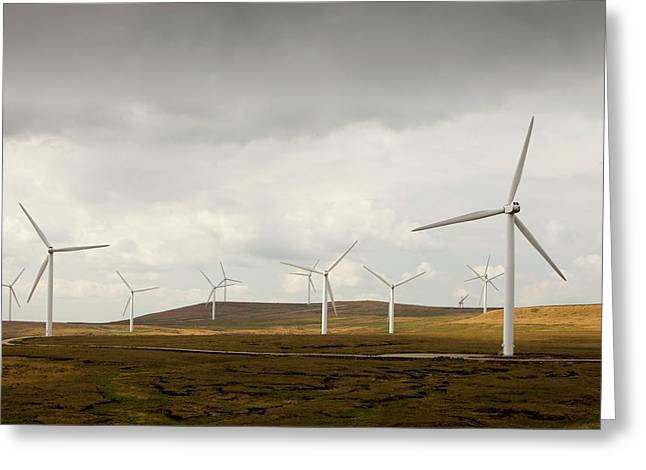 Scout Moor Wind Farm Greeting Card by Ashley Cooper