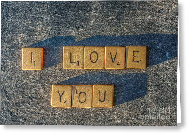 Scrabble I Love You Greeting Card by Randy Steele