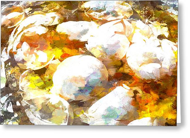 Scrambled Eggs Greeting Card by Bob Orsillo