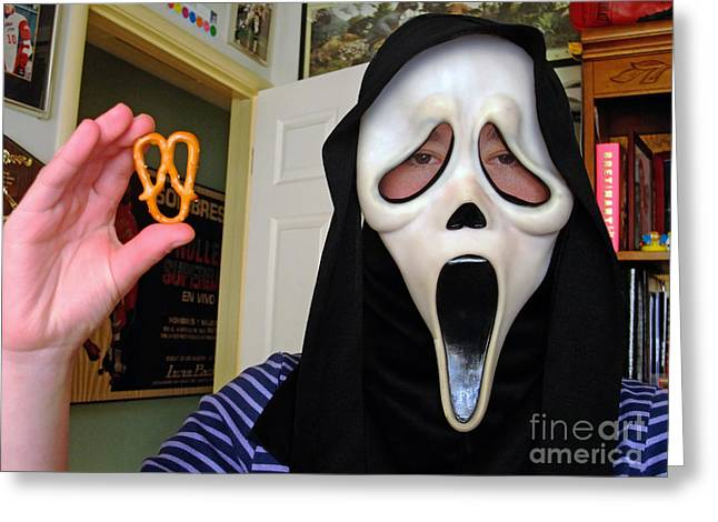 Scream And The Scream Pretzel Greeting Card