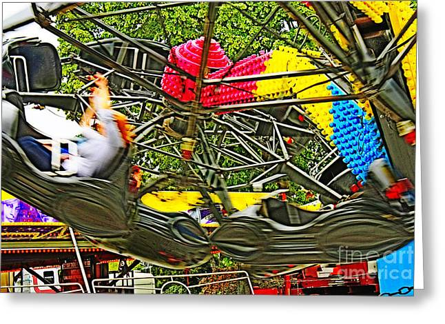 Scream If You Want To Go Faster Greeting Card by Terri Waters