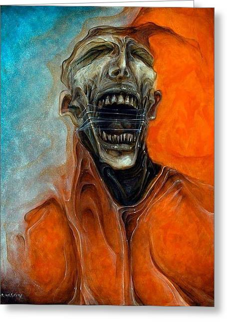 Scream Till No One Hears You Greeting Card by Robert Anderson