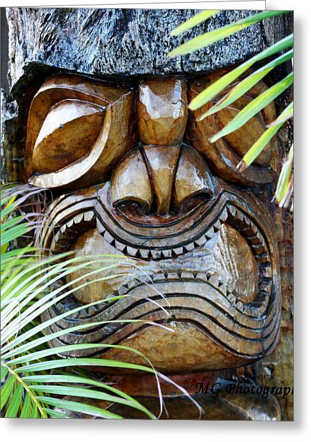 Screaming Tiki  Greeting Card by Marty Gayler