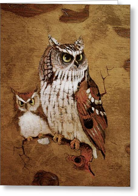 Screech Owls Greeting Card