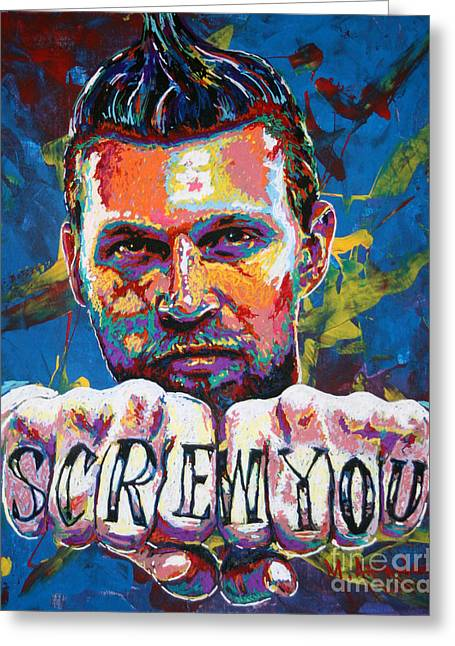 Screw You Greeting Card by Maria Arango