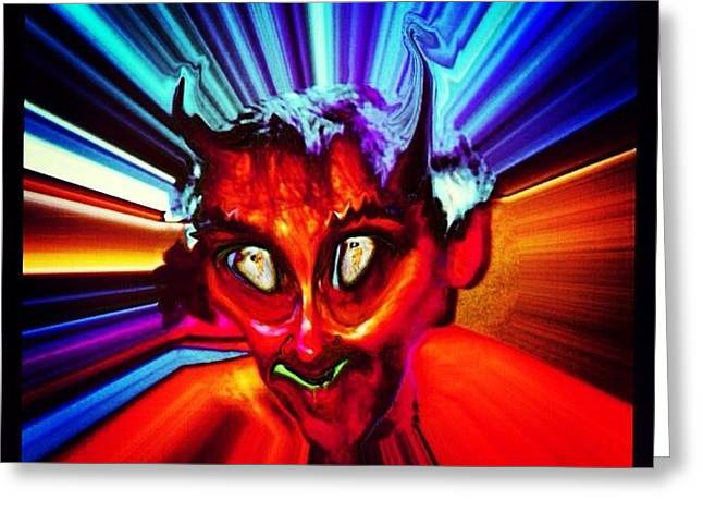Screwtape - A Younger Novice Devil Greeting Card by Urbane Alien
